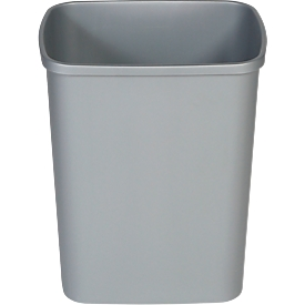 Afvalbak Probbax, 25 l volume, rechthoekig, polypropyleen, grijs