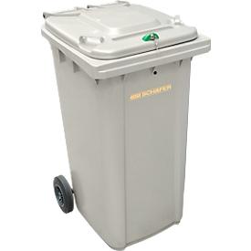 Afvalbak voor vertrouwelijke documenten GMT, 240 l, zilver