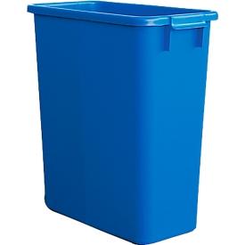 Afvalbak zonder deksel, 60 liter, blauw