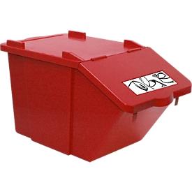 Afvalsorteersysteem Ökonom, stapelbaar, 45 l, rood