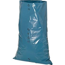 Afvalzakken Premium, materiaal LDPE, voor zware lasten, 120 liter, 50 stuks