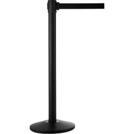 Afzetpaal met staander, zwart, trekband zwart