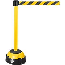 Afzetpaal met trekband, geel, Band zwart/geel