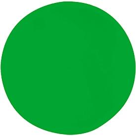 Akoestisch wandpaneel cirkel, Ø 1000 mm, polyestervlies in viltlook, groen RAL 6018