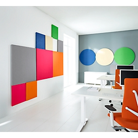 Akoestisch wandpaneel vierkant, B 1000 x H 1000 mm, polyestervlies in viltlook, signaalblauw RAL 5005