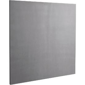 Akoestisch wandpaneel vierkant, B 500 x H 500 mm, polyestervlies in viltlook, signaalgrijs RAL 7004