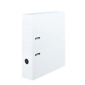 Aktenordner, Format A4, mit auswechselbarem Rückenschild & Griffloch, abwaschbar, Rückenbreite 80 mm, PVC, weiß, 10 Stück