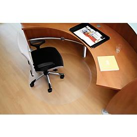 Alfombra para sillas de oficina BSM forma C, para suelos duros, Ø 600 mm