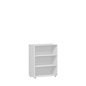 ALICANTE boekenkast, 3 OH, 2 legborden, B 800 x D 400 x H 1104 mm, lichtgrijs