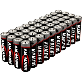 Alkaline Batterien Ansmann, Mignon AA, 7 Jahre Lebensdauer, 40 Stück