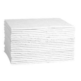 Almohadilla absorbente FIRST, muy aglutinante de aceite, An 300 x L 400mm, para 40 l, 1 capa, 20 unidades, blanco