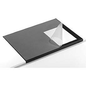 Almohadillas de escritorio m. protectores de bordes, negro