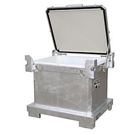 Altbatterie-Container BAUER SAP 600 K, Stahlblech, feuerverzinkt, abschließbar, stapelbar,  B 1200 x T 1000 x H 1055 mm