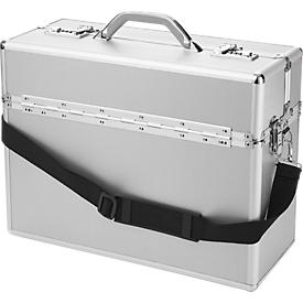 ALUMAXX pilotenkoffer, met draaggreep, 1 vak, aluminium, zilver