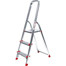 Aluminium trapladder, belastbaar tot 150 kg, 3 treden