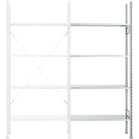 Anbauregal, 4 Böden, H 2278 x B 1055 x T 300 mm, verzinkt