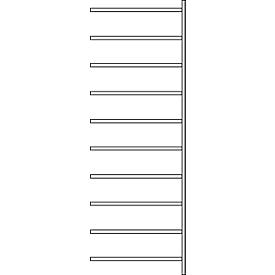 Anbauregal R 3000, 10 Böden, B 1025 mm x T 300 mm, Böden verzinkt