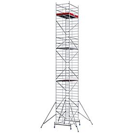 Andamio móvil de aluminio estructura ancha, altura de posición aprox. 10300mm