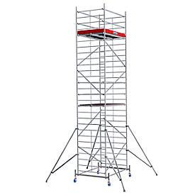Andamio móvil de aluminio estructura ancha, altura de posición aprox. 6300mm