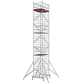 Andamio móvil de aluminio estructura ancha, altura de posición aprox. 9300mm