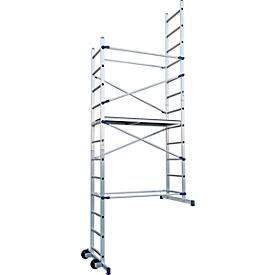 Andamio trabajos domésticos Facal Clic, aluminio, montaje y desmontaje rápido, altura de trabajo 4360mm