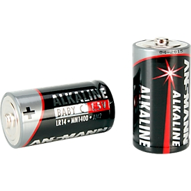 Ansmann Alkaline Baby C Batterien, 1,5 Volt