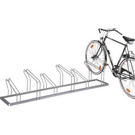 Aparcabicis con soportes de rueda, unilateral, para rueda con ø 18-28