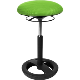 Apoyo de pie Sitness HIGH BOB, asiento ergonómico, altura del asiento de 490 a 700mm, verde manzana, armazón negro revestido de polvo