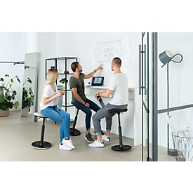 Apoyo de pie Topstar Sitness H1, ajustable en altura, giratorio 360°, postura dinámica sentada/de pie, negro/negro