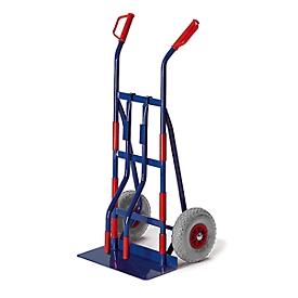 Apparatensteekwagen met draagarmen, massief rubberen banden, draagvermogen 250 kg