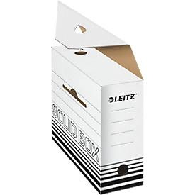 Archiefdoos Leitz Solid Box 6128 100 mm, A4, voor 900 vellen, 10 stuks, wit