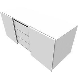 Archivador múltiple SOLUS PLAY, 3 cajones, An 1350mm, blanco