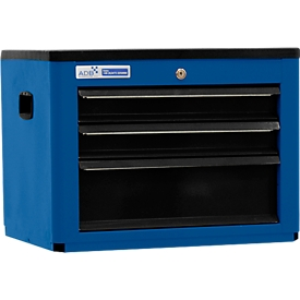 Arcón para herramientas BASIC, Al 450 x An 600 x P 440mm, 3 cajones, azul