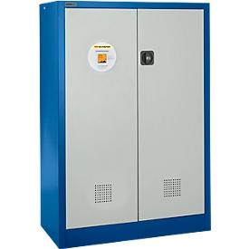 Armario ambiental Schäfer Shop Select, acero, ancho 950 x fondo 500 x alto 1585 mm, ranuras de ventilación, 3 bandejas de 20 l