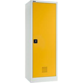 Armario ambiental Schäfer Shop Select MSI-US1506, acero, ancho 600 x fondo 500 x alto 1585 mm, ranuras de ventilación, 3 bandejas de 11 l