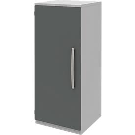 Armario archivador BARI, 3 AA, 2 estantes, bisagra de puerta a la izquierda, An 427 x P 430 x Al 1117mm, gris claro/antracita
