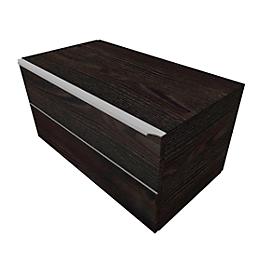Armario de cajones QUANDOS BOX, 1 cajón, An 800 x P 440 x Al 374mm, roble oscuro