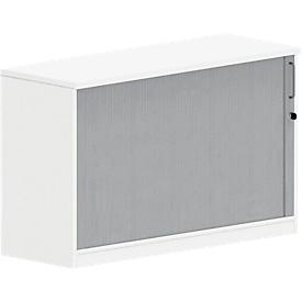 Armario de extensión de persiana transversal BEXXSTAR, 1,5 alturas de archivo, An 1200 x P 420 x Al 740mm, blanco