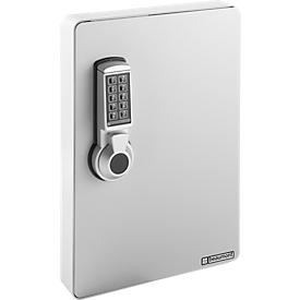 Armario de llaves, cerradura electrónica, 24 ganchos, gris luminoso