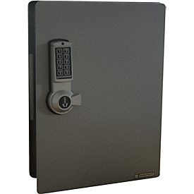 Armario de llaves con cerradura electrónica, 91 ganchos, plata efecto martillado