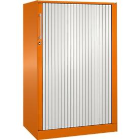 Armario de persiana ASISTO C 3000, 3 alturas de archivo, An 800mm, naranja/blanco