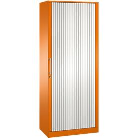 Armario de persiana ASISTO C 3000, 5 alturas de archivo, An 800mm, naranja/blanco