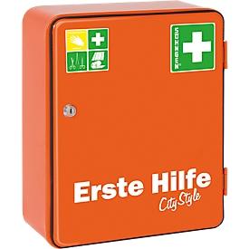 Armario de primeros auxilios HEIDELBERG, contenido no incluido, naranja