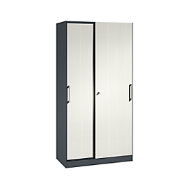 Armario de puertas correderas ASISTO C 3000, 5 alturas de archivo, con cara frontal insonorizante, anchura 1000mm,