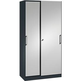 Armario de puertas correderas ASISTO C 3000, 5 alturas de archivo, con cerradura, anchura 1000mm,