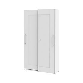 Armario de puertas correderas TEQSTYLE, 5 AA, An 1600 x P 419 x Al 2185mm, blanco/blanco