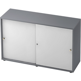 Armario de puertas correderas TOPAS LINE, 2 AA, grafito/blanco