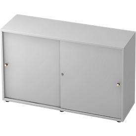 Armario de puertas correderas TOPAS LINE, 2 AA, gris luminoso/gris luminoso