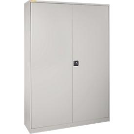 Armario de taller XL120 con 40 cajas LF531, aluminio blanco RAL 9006/aluminio blanco RAL 9006