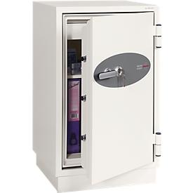 Armario ignífugo FS 0442, cerradura de llave, An 520 x P 520 x Al 820mm, acero, blanco señales RAL 9003